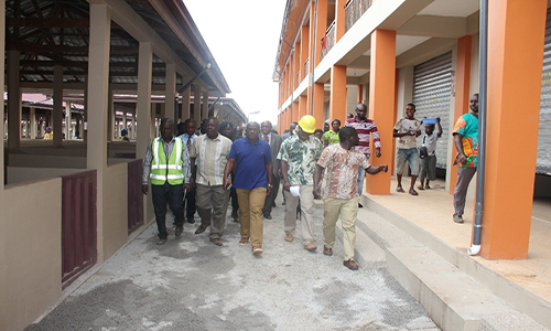 Minister of Local Government inspects projects in Kumasi