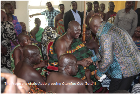PRESIDENT AKUFO ADDO ARRIVES TO A TUMULTUOUS WELCOME IN KUMASI
