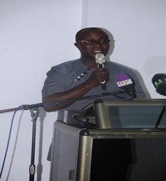 Hon. Osei Assibey Antwi , the Kumasi Mayor addressing the General Assembly